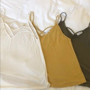 Tops - 3 tanks. Sizes Medium, large and large